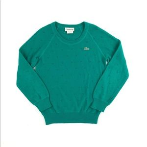 Lacoste green sweater